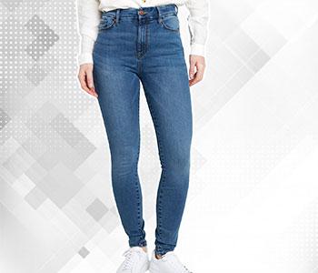 High Waist Stretch Jeans Navy Blue